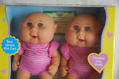 Cabbage Patch Kids CUDDLE N LOVE TWINS Tiny Newborn *NEW* BROWN Eyes Keira