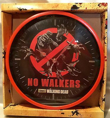 """The Walking Dead AMC TV series NO WALKERS 12"""" Round CLOCK - Battery Operated NEW"""