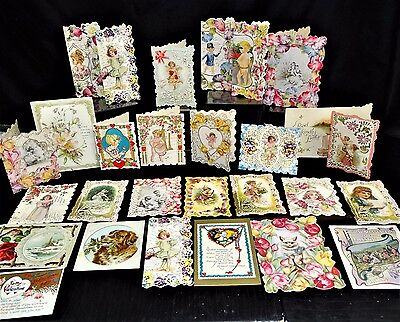Lot of 28 Antique Valentine's Day Card 1910-1920 made in Germany & USA
