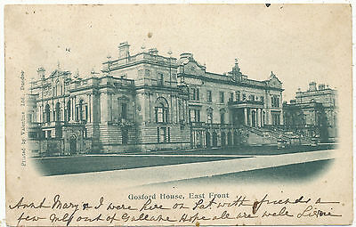 Gosford House, East Front, 1902 undivided back postcard
