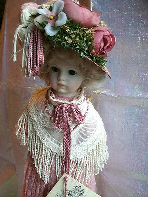 "Louis Nichole Victorian Heirloom Collections 13"" Porcelain Rose Doll Mint"