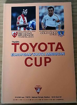 1991 Toyota Cup Final Programme - Red Star Belgrade v Colo Colo