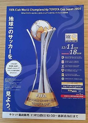 2005 FIFA Club World Cup A4 poster/flyer - Liverpool, Sao Paulo etc.