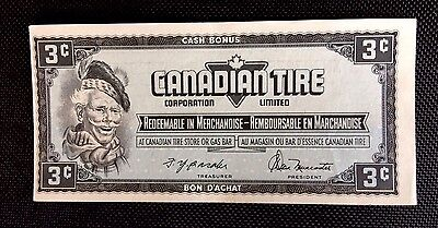 Canadian Tire Money Vintage Note 3 Cent CTC S-4  Issue 1974