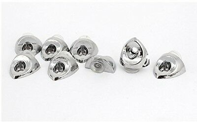 Sourcingmap Stainless Steel Glass Shelf Fixing Clip Bracket Suction Cup 8pcs