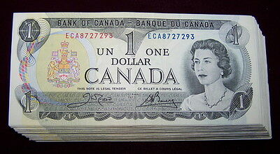 BANK OF CANADA 1973 $1 NOTES BC-46b   EF+ to nice AU 10 PCS LOT