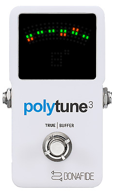 TC Electronic PolyTune 3 Ultra-Compact Polyphonic Tuner w/Built-In Buffer