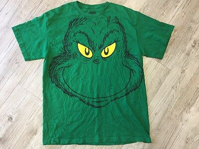 VINTAGE DR SUESS The Grinch Shirt Mens Size Large Green Christmas ... f6e999144