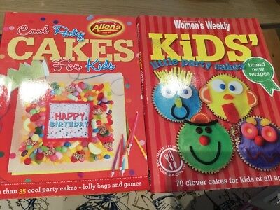 Women's Weekly Kids Party Cake Book Birthday Children Cup Cake Book Pasta Book