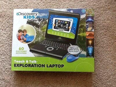 Discovery Kids Teach 'n' Talk Exploration Laptop, Blue