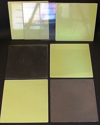 ELLO LARGE SQUARE PANELS x 8.  LIME GREEN / CLEAR.  UK DISPATCH