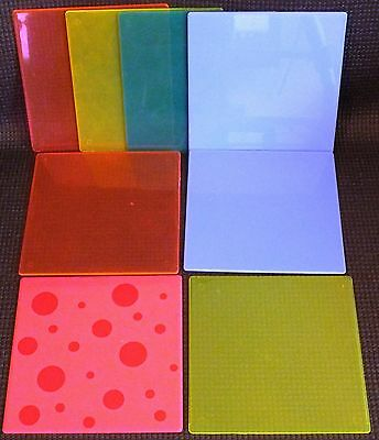 ELLO LARGE SQUARE PANELS x 8. MIXED COLOURS.  UK DISPATCH