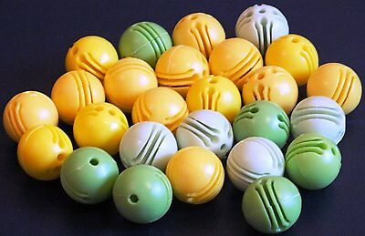 "ELLO BALL CONNECTERS x 26 "" YELLOW / GREEN"".  VGC. UK DISPATCH"