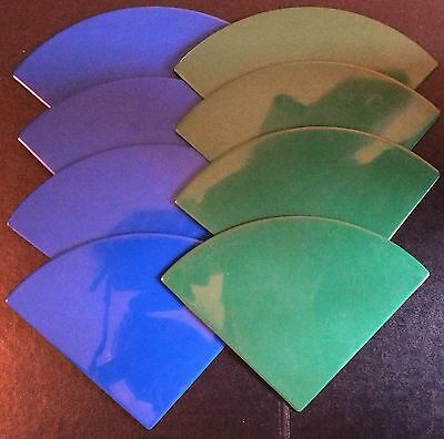 ELLO LARGE QUARTER CIRCLE PANELS x 8.  GREEN / BLUE.  UK DISPATCH