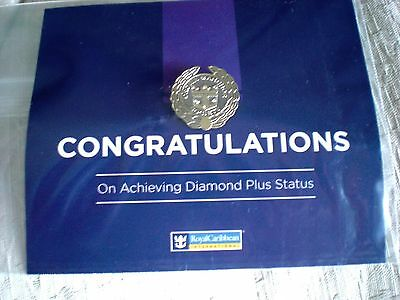 Royal-Caribbean-Cruise-Line-RCL-Crown & Anchor-DIAMOND-PLUS-MEMBER-Level-Pin-New
