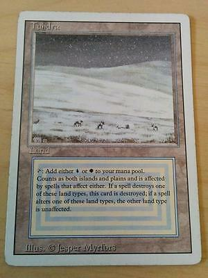 MTG Revised Rare *Tundra* LP/MP Condition