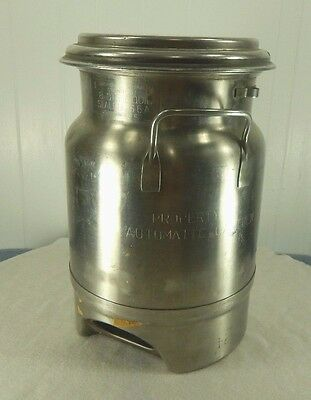 Vintage Stainless Steel John Wood Dairy Can S6A Superior St.paul Minn - 8 Qts.