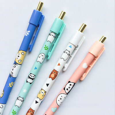 4 Pc Cute Kawaii Cartoon Animals Mechanical Pencils, School Supplies Stationery