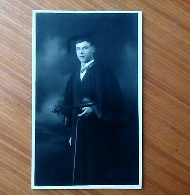 Vintage* Gentleman with Violin and Bow Graduation Mortarboard. Fred Arthur ?