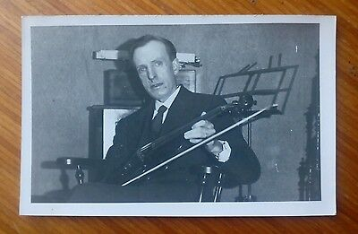 Vintage* Gentleman with a violin and bow. Suit and tie. Nice photo.