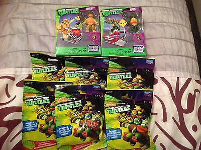 Mega Bloks Teenage Mutant Ninja Turtles Mikey and Raph plus 6pks mini figures
