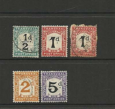 British Transvaal South Africa ~ 1907 Postage Due King Edward Vii
