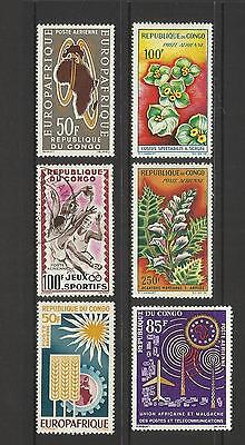 Congo Brazzaville ~ Small Mid Modern Collection (Mint Mh)