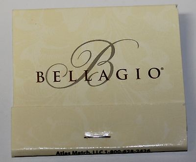 "Las Vegas Casino Unused Matchbook BELLAGIO ""Dark B"""