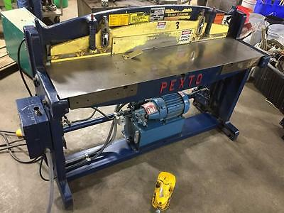 Pexto Hydraulic 16ga Shear P-352 230V 3PH Metal Soft Steel Roper Whitney WORKS!