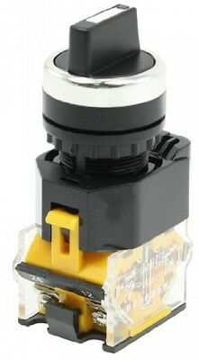 AC380V 10A DPST 1NO 1NC 3 Positions Rotary Selector Latching Push Button Switch