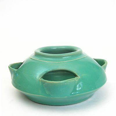 Bauer Pottery Matt Carlton Hand Thrown Jade Green Cactus Strawberry Pot