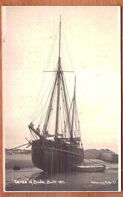 CERES of BUDE Ketch Real Photo Postcard Sized Card