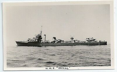 HMS VANOC V-class Destroyer Royal Navy PC-size RP Card