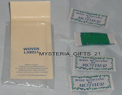 Labels Sew-On Clothing *woven*made With Love By Mother