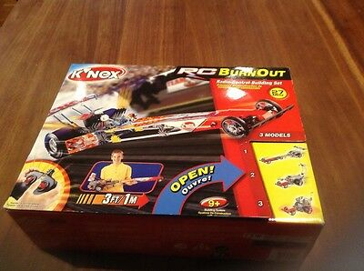 K'nex Rc Burn Out Radio-Control Building Set, Brand New