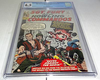 Sgt. Fury and His Howling Commandos #1 CGC 6.5 WHITE Pages TWIN CITIES Pedigree