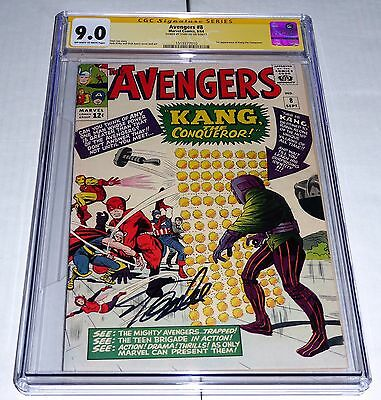 Avengers #8 CGC SS Signature STAN LEE 9.0 1st Appearance of Kang the Conqueror