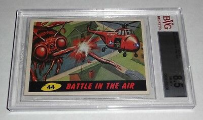 1962 Mars Attacks Battle In The Air # 44 NM-MT+ BGS BVG 8.5 Like PSA Alien UFO