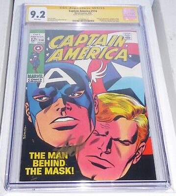 Captain America #114 CGC Signature Signed STAN LEE Wasp Avengers Black Panther