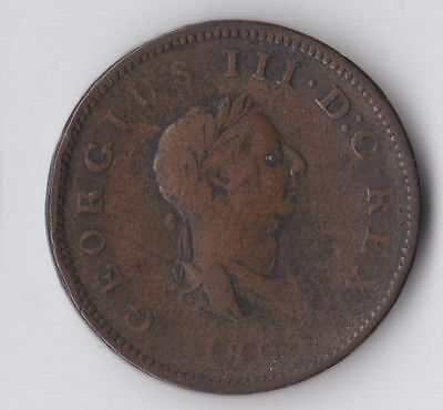 George III, Early Milled Halfpenny 1806, Fair, M451