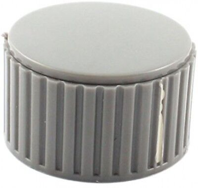 6mm Dia Gray Plastic Volume Control Rotary Potentiometer Knob Cap