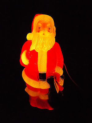 """Vintage 1968 Empire Blow Mold Christmas Santa with Toy Sack 13"""" tall NEW 6' CORD"""