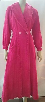 SUPERTEX vintage ladies size SW chenille dressing gown bath robe pink
