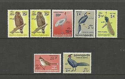 Burma (Myanmar) ~ 1964 & 1968 Birds Of Burma (Definitives Part Sets)