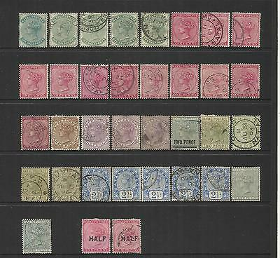 Natal Rsa South Africa ~ 1874-1904 Queen Victoria Definitives (Postally Used)