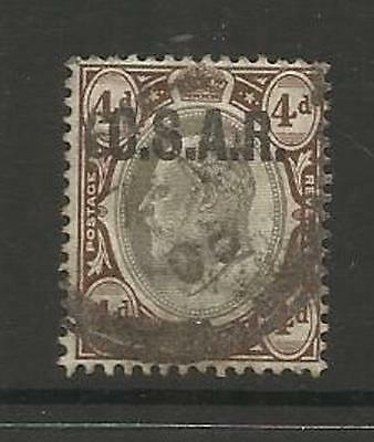 TRANSVAAL SOUTH AFRICA ~ 1902-10 C.S.A.R. RAILWAY 4d EDWARD VII