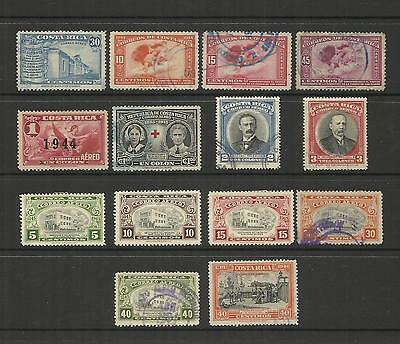 Costa Rica ~ 1941-47 Air Mail Issues (Part Sets)