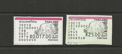 Thailand ~ Vendor Postal Labels (On Piece) Elephants