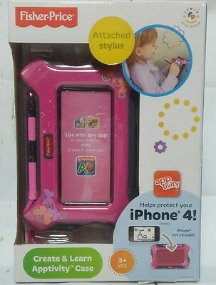 Fisher-Price Apptivity Case Pink iPhone 4 with stylus  Create and Learn