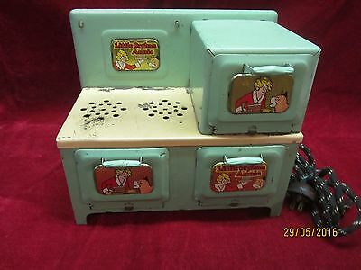 Vintage 1930's Marx 'Little Orphan Annie Electric Metal Stove / Oven'
